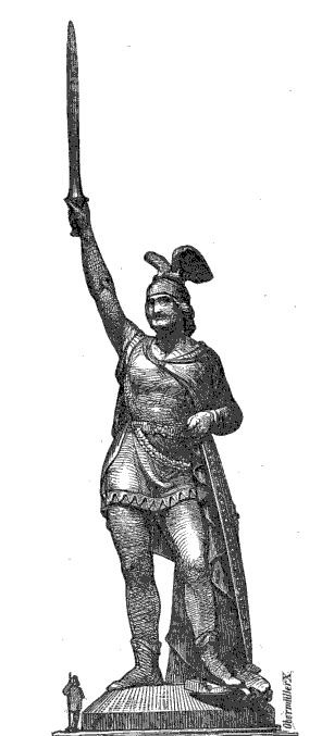 Zeichnung Ernst von Bandel 1862