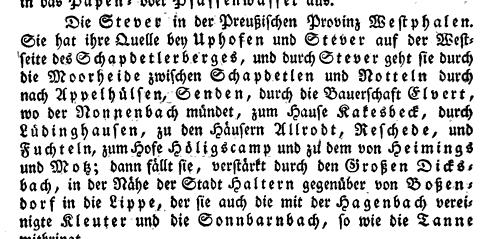 Neues hydrographisches Lexikon für die deutschen Staaten von Leopold von Zedlitz-Neukirch, erschienen 1833 in Halle