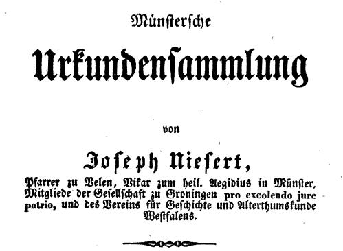Abbildung des Titelblatts des siebten Bandes, Coesfeld 1937